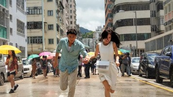 Vincent Wong and Natalie Tong in A Man Who Kills Troubles